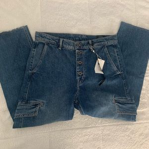 VINCE High Waisted Cropped Jeans